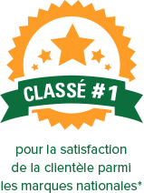 Classe #1 pour la satisfaction de la clientele parmi les marques nationales*